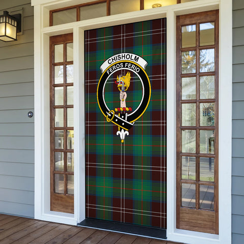 Chisholm Hunting Ancient Tartan Door Sock Cover