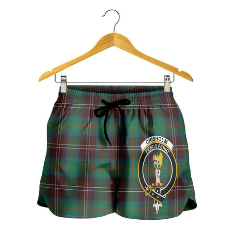 Chisholm Hunting Ancient Crest Tartan Shorts For Women K7