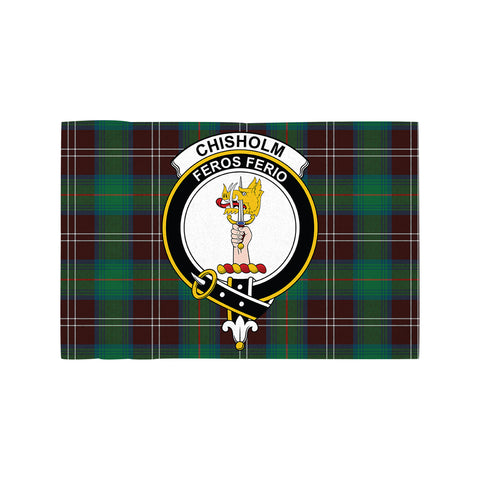 Chisholm Hunting Ancient Clan Crest Tartan Motorcycle Flag