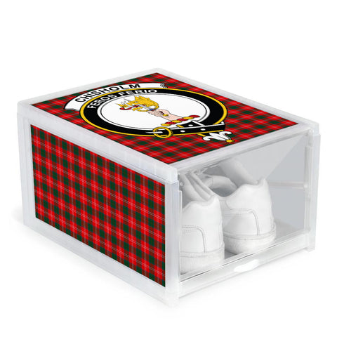 Chisholm Modern Clan Crest Tartan Scottish Shoe Organizers