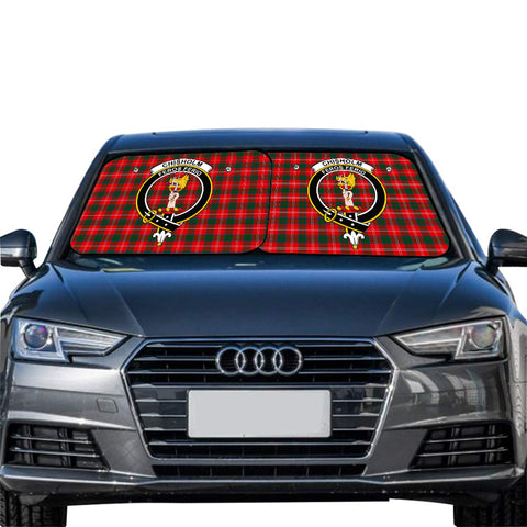 Chisholm Modern Clan Crest Tartan Scotland Car Sun Shade 2pcs
