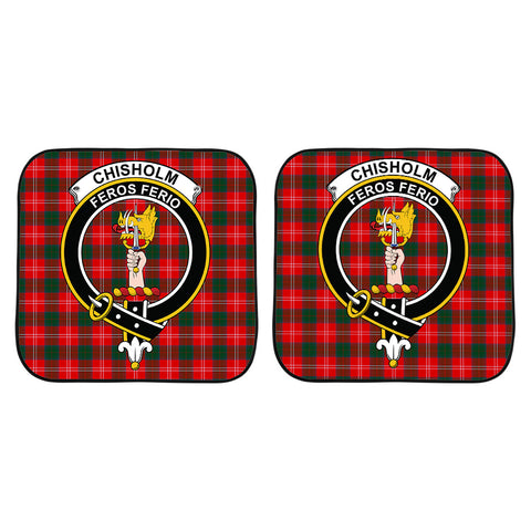 Chisholm Modern Clan Crest Tartan Scotland Car Sun Shade 2pcs K7