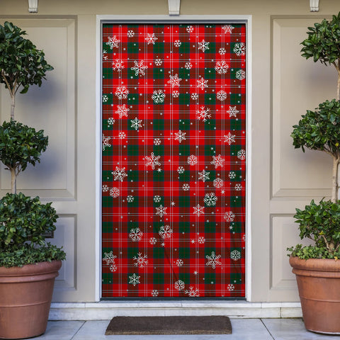 Chisholm Modern Christmas Tartan Door Sock Cover