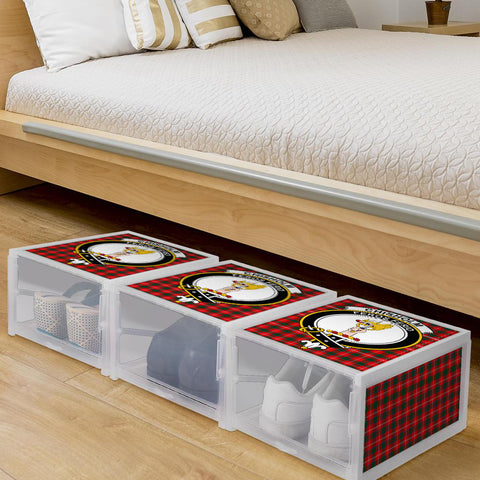 Chisholm Modern Clan Crest Tartan Scottish Shoe Organizers K9