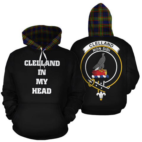 Clelland Modern In My Head Hoodie Tartan Scotland K9