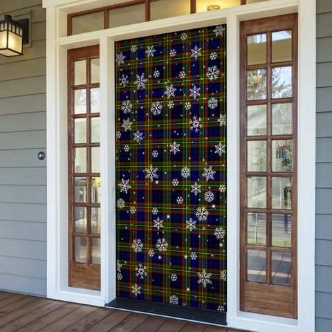 Clelland Modern Christmas Tartan Door Sock Cover