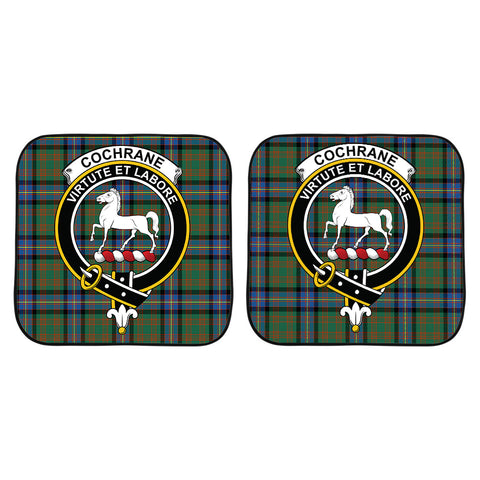 Cochrane Ancient Clan Crest Tartan Scotland Car Sun Shade 2pcs K7