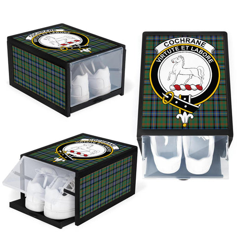 Image of Cochrane Ancient Clan Crest Tartan Scottish Shoe Organizers K9