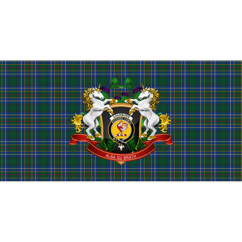 Image of Cockburn Ancient Crest Tartan Tablecloth Unicorn Thistle A30