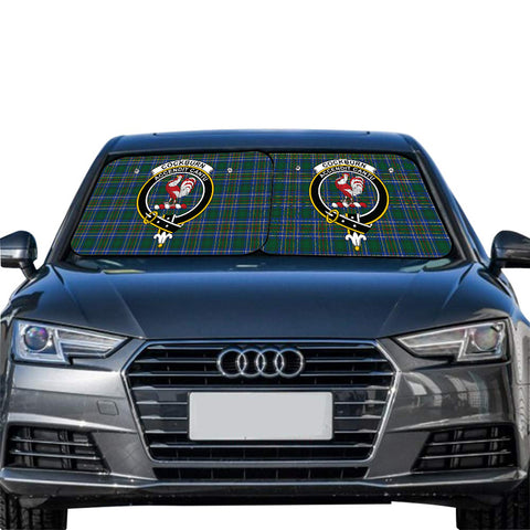 Cockburn Ancient Clan Crest Tartan Scotland Car Sun Shade 2pcs