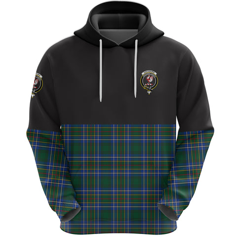 Cockburn Ancient Clan Hoodie Half Of Tartan