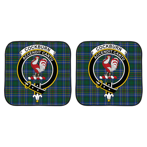 Cockburn Ancient Clan Crest Tartan Scotland Car Sun Shade 2pcs K7