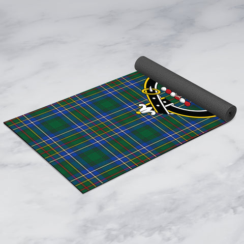 Cockburn Ancient Clan Crest Tartan Yoga mats
