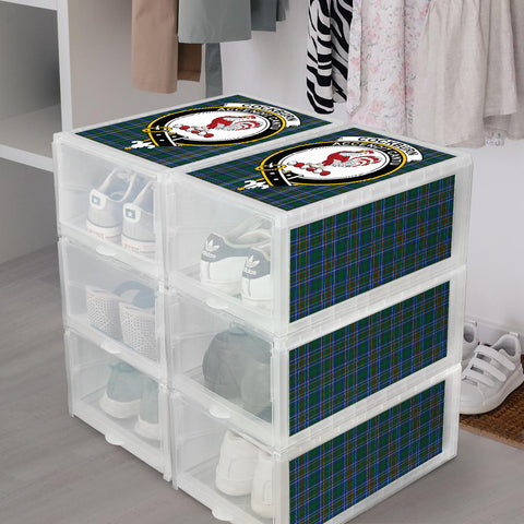 Cockburn Ancient Clan Crest Tartan Scottish Shoe Organizers K9