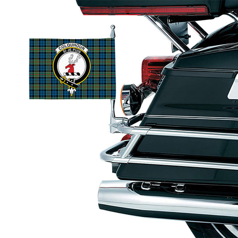 Colquhoun Ancient Clan Crest Tartan Motorcycle Flag