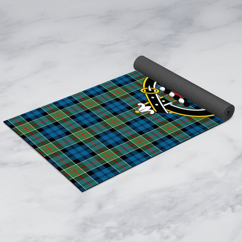 Image of Colquhoun Ancient Clan Crest Tartan Yoga mats