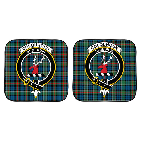 Image of Colquhoun Ancient Clan Crest Tartan Scotland Car Sun Shade 2pcs K7