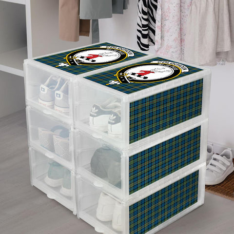 Image of Colquhoun Ancient Clan Crest Tartan Scottish Shoe Organizers K9