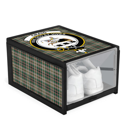 Craig Ancient Clan Crest Tartan Scottish Shoe Organizers K9