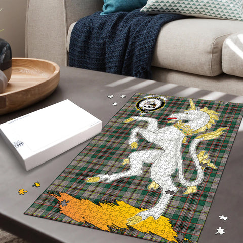 Craig Ancient Clan Crest Tartan Unicorn Scotland Jigsaw Puzzle