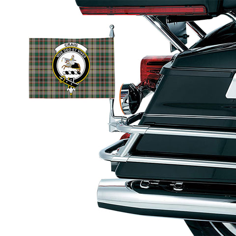 Craig Ancient Clan Crest Tartan Motorcycle Flag