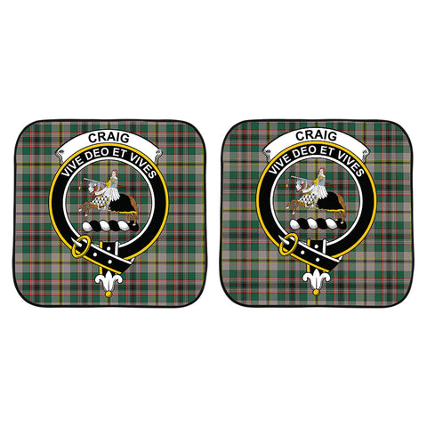 Craig Ancient Clan Crest Tartan Scotland Car Sun Shade 2pcs K7