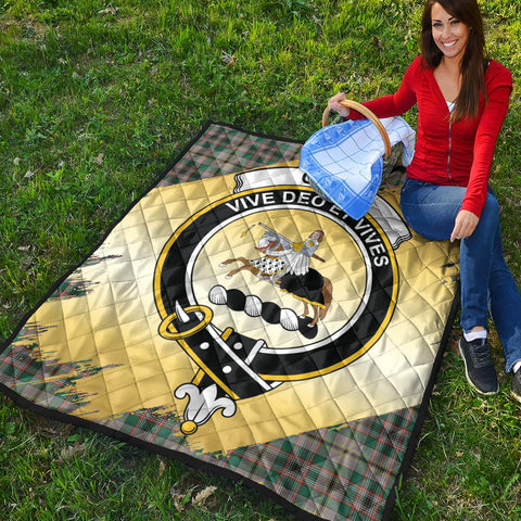 Craig Ancient Clan Crest Tartan Scotland Gold Royal Premium Quilt K9