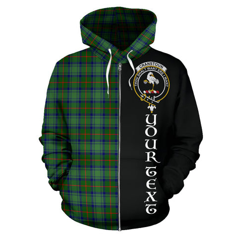 Image of (Custom your text) Cranstoun Tartan Hoodie Half Of Me TH8