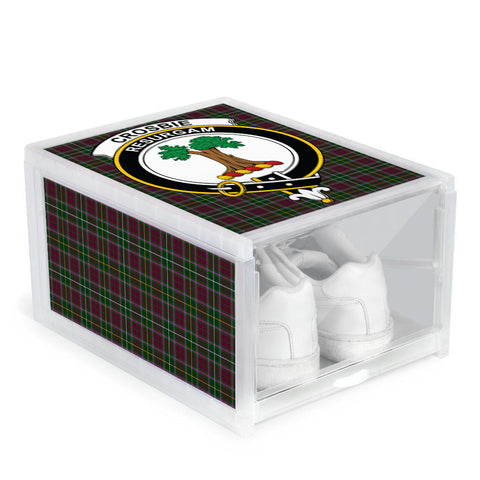 Image of Crosbie Clan Crest Tartan Scottish Shoe Organizers
