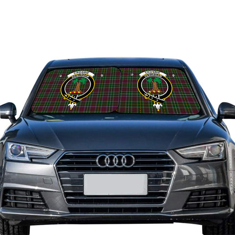 Image of Crosbie Clan Crest Tartan Scotland Car Sun Shade 2pcs