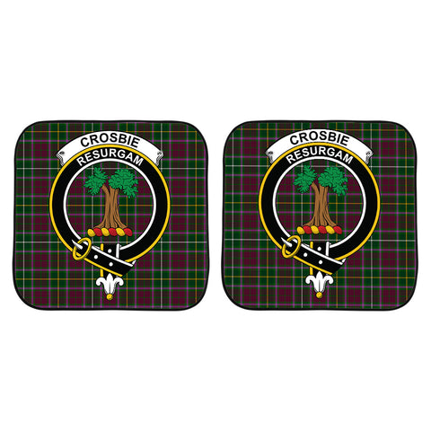 Image of Crosbie Clan Crest Tartan Scotland Car Sun Shade 2pcs K7