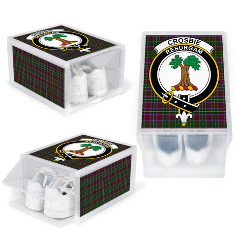 Crosbie Clan Crest Tartan Scottish Shoe Organizers K9