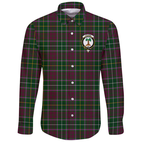 Image of Crosbie Tartan Clan Long Sleeve Button Shirt | Scottish Clan