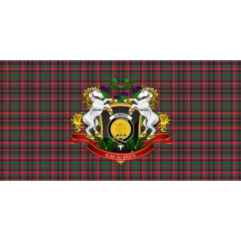 Cumming Hunting Modern Crest Tartan Tablecloth Unicorn Thistle A30