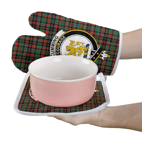 Cumming Hunting Ancient Clan Crest Tartan Scotland Oven Mitt And Pot-Holder (Set Of Two)