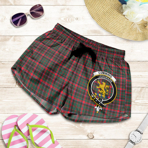 Cumming Hunting Modern crest Tartan Shorts For Women