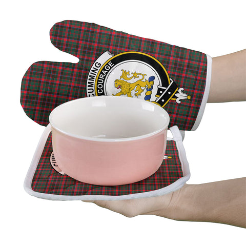 Cumming Hunting Modern Clan Crest Tartan Scotland Oven Mitt And Pot-Holder (Set Of Two)