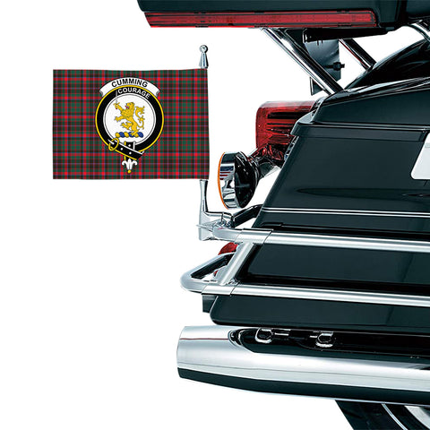 Cumming Hunting Modern Clan Crest Tartan Motorcycle Flag