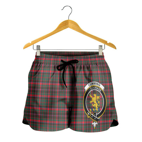 Cumming Hunting Modern Crest Tartan Shorts For Women K7