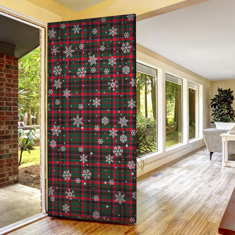 Cumming Hunting Modern Christmas Tartan Door Sock Cover
