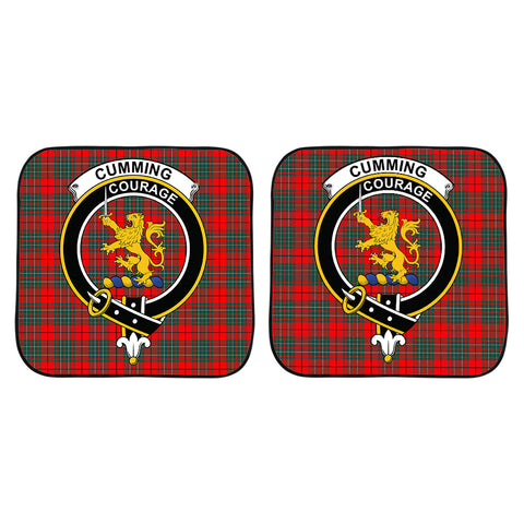 Cumming Modern Clan Crest Tartan Scotland Car Sun Shade 2pcs K7
