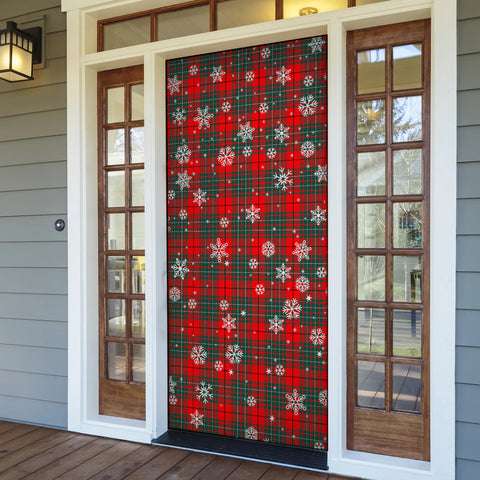 Cumming Modern Christmas Tartan Door Sock Cover