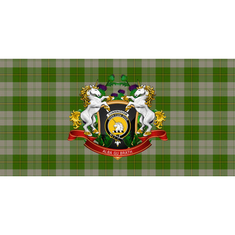 Image of Cunningham Dress Green Dancers Crest Tartan Tablecloth Unicorn Thistle A30