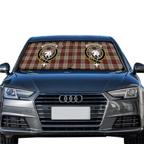 Cunningham Burgundy Dancers Clan Crest Tartan Scotland Car Sun Shade 2pcs