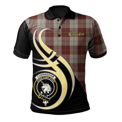 Cunningham Burgundy Dancers Clan Believe In Me Polo Shirt