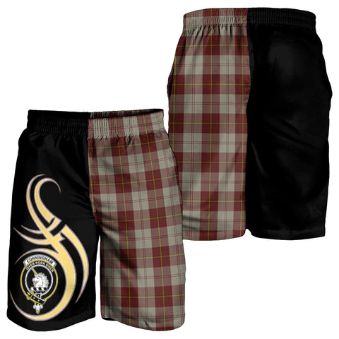 Cunningham Burgundy Dancers Clan Believe In Me Men Short