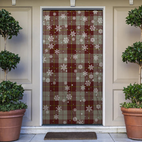 Cunningham Burgundy Dancers Christmas Tartan Door Sock Cover