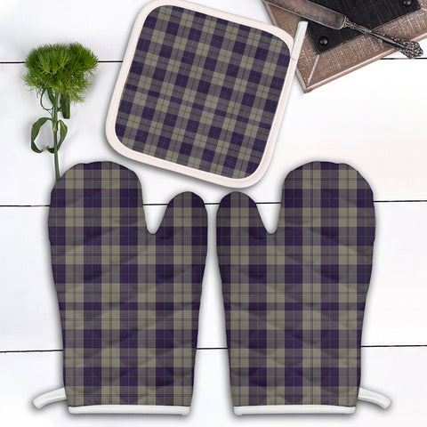Cunningham Dress Blue Dancers Clan Tartan Scotland Oven Mitt And Pot-Holder (Set Of Two)