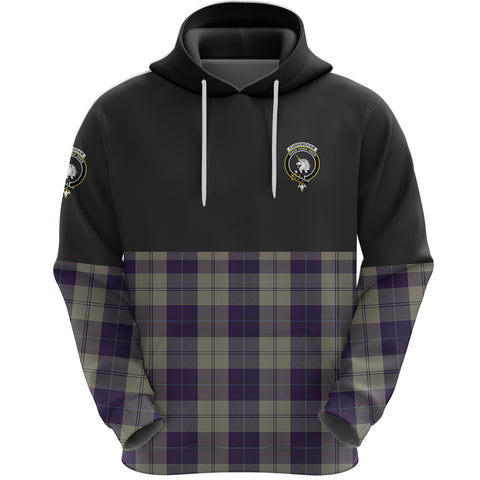 Cunningham Dress Blue Dancers Clan Hoodie Half Of Tartan