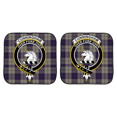 Cunningham Dress Blue Dancers Clan Crest Tartan Scotland Car Sun Shade 2pcs K7